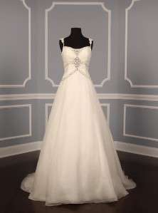 Silk Organza Sleeveless Beadwork Couture Wedding Dress Gown