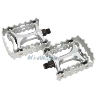 New BMX Mountain Road Bike Bicycle Pedals Footrest 9/16 Pair Silver