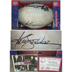 Ken Stabler Signed Raiders Logo Fotoball Football Sports