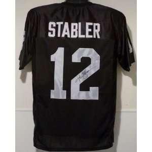 Ken Stabler Autographed/Hand Signed Oakland Raiders Jersey