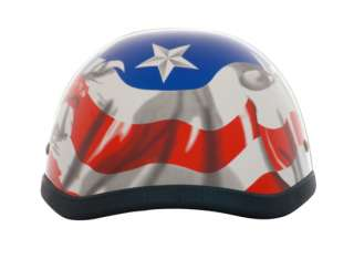 USA EAGLE FLAG Novelty Motorcycle Helmet Skid Lid ~XL