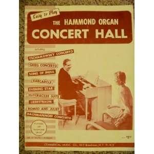 Hammond Organ Concert Hall Books