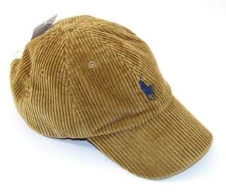 LAUREN Baseball Boy Cap Hat Infant 9 12 18 Months Corduroy New