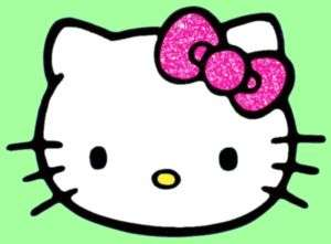 HELLO KITTY PINK GLITTER BOW iPod iPhone Sticker Decals