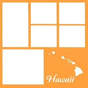 Hawaii State 12 x 12 Overlay Laser Die Cut Sports