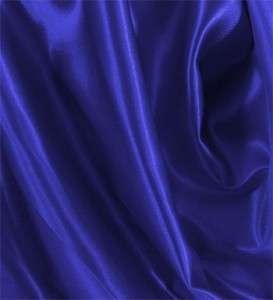 PER YARD 60 ROYAL BLUE SHINY SATIN FABRIC HI QUALITY