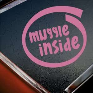 Muggle Inside Pink Decal Car Truck Bumper Window Pink