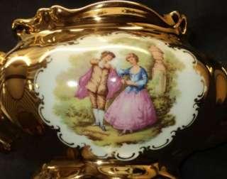 NC GERMANY FRAGONARD LOVE STORY FULL GOLD TEA POT