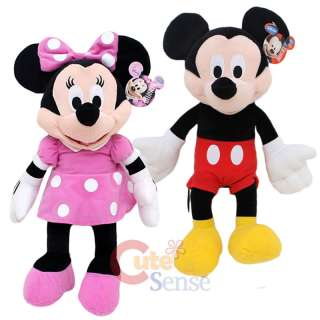 Disney Mickey & Minnie Mouse Plush Doll  Club House 15 Set