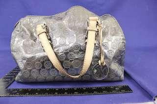 Michael Kors Gloss Metallic Grey Handbag Tote Purse