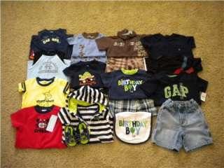 Huge lot baby boy summer clothes 12 18 months. Gymboree, Gap, Carters