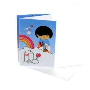 Momiji Itchy Feet Dolls By Nina Zimmermann Collection Greeting Card