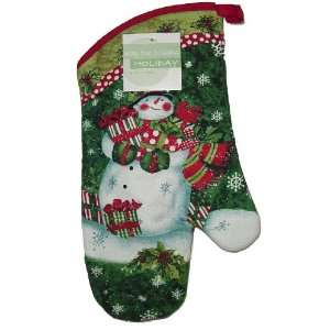 Dee Oven Mitt Traditional Snowman Christmas Holiday
