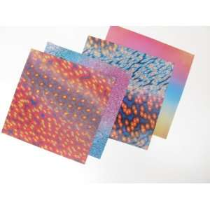 Scrapbooking Sheets Assortment 12 holograph Mix Arts, Crafts & Sewing