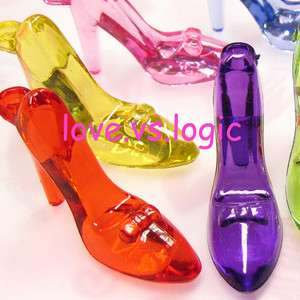 10 Icey High Heel Acrylic Charms.Mix Colors