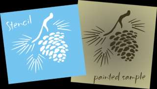 New Stencil Shape S202(A G) ~ Mountain Lodge Pine Cone with pine