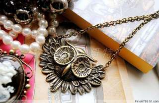 Lots Fashion 12Strands Mixed Style Owl Metel Necklaces