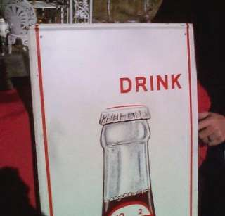 Dr Pepper Metal Advertising Sign w Bottle 1968 Soda Pop 10 2 4