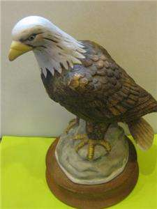 American Bald EAGLE Large 9 Bird Figurine Enesco EXC