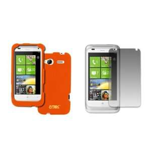 EMPIRE HTC Radar 4G Orange Rubberized Hard Case Cover