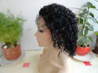 Lace Front 100% Indian Remy Human Hair Curly Wig 10 Kallyn
