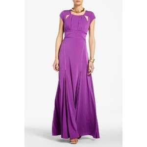 new $348 BCBG MAX AZRIA LULU CUTOUT Jersey EVENING DRESS Gown Orchid