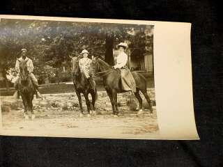 1910 OTIS FAMILY CHICAGO IL MOTHER DAUGHTER HORSE RPPC NEGRO BLACK
