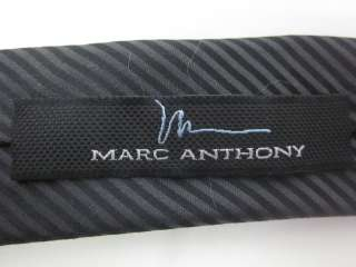 MARC ANTHONY FOR KOHLS Mens Black Gray Tie Sz 0/S