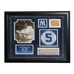 MLB Monument Park Brick Framed And Retired Number Joe Dimaggio Collage