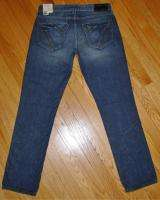 NWT Mens GUESS Low Rise Straight Leg Jeans Black Trim In JOUST Wash 32