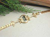 HORSE & WESTERN LADIES WOMENS CRYSTALS HORSE BIT WATCH   GOLD