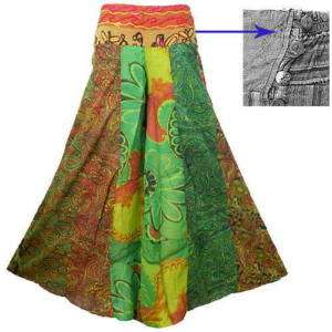 BOHO HIPPIE COLOURFUL WIDE LEG LONG GAUCHO PANTS  EB640