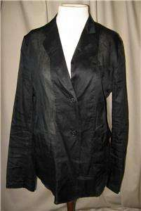 JIL SANDER Black Sheer Cotton Organza Jacket Sz 44; 10