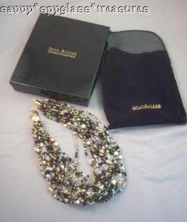 Joan Rivers Multi Strand Czech Crystal Bead Necklace