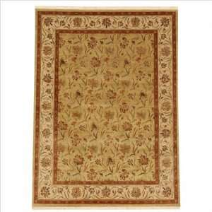 Palatine Lilly Light Green / Dark Ivory Contemporary Rug