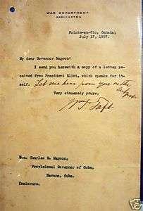 President William Taft Hand Signed Typed Letter