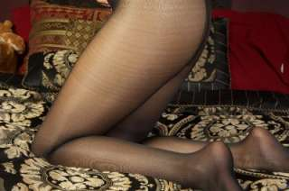 Shiny Tights Sheer to Waist PANTYHOSE FOR MEN w/ 3rd Leg Black OS