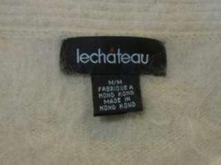 ~ LE CHATEAU ~ 80% ANGORA ~ Ladies Boat Neck Sweater ~ Size M ~ Tan