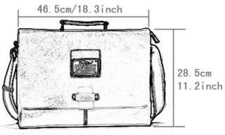 New big Mens fashion leather messenger bag briefcase shoulder hand