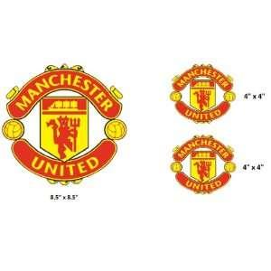 Set of 3   Manchester United sticker vinyl decal