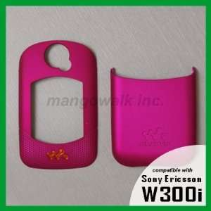 Hot Pink Faceplate/Cover for Sony Ericsson W300i W300