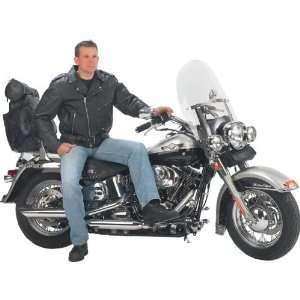 PlateTM Solid Genuine Leather Mens Belted Motorcycle Jacket   XLarge