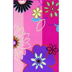 Kids Children Fun Area Rugs Pink 3 3 x 5 Flowers