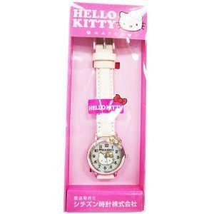 Hello Kitty White Band Watch (with Hinge)