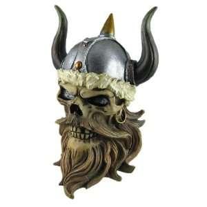 Cool Viking Warrior Skull Trinket Box Curio Stash: Home