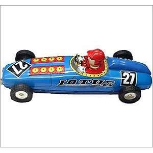 Tin wind up Lotus style race car figurine