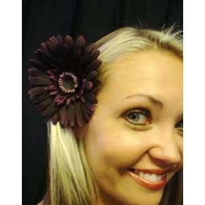 Eggplant Purple Daisy Hair Flower Clip Beauty