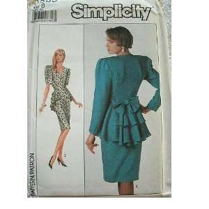 MISSES DRESS   ADJUSTABLE FOR MISS PETITE SIZE 8 SIMPLICITY PATTERN