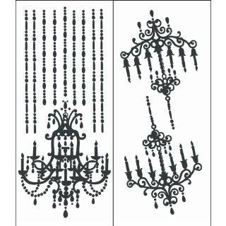 Home Decor, BLACK Chandelier 1 Wall Decals Art Stickers Home Decor