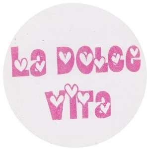 Hearts Italian Decal Sticker  Circle Shape  Arts, Crafts & Sewing